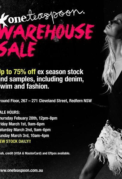 One Teaspoon Sale One Teaspoon Warehouse Sale