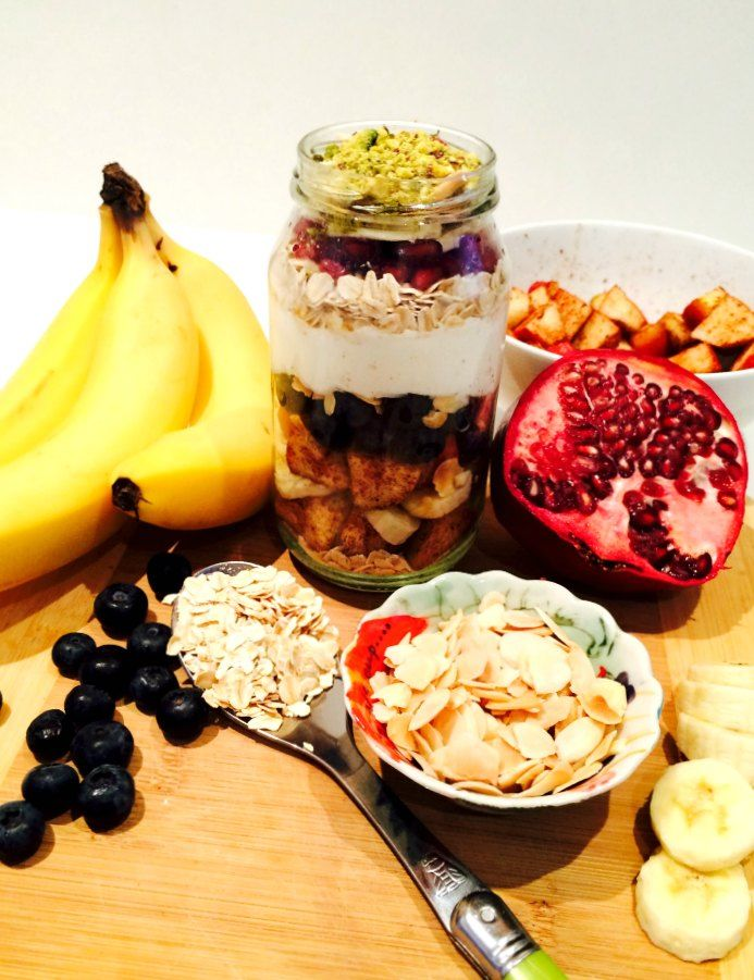 Quick and healthy brekkie jar recipe