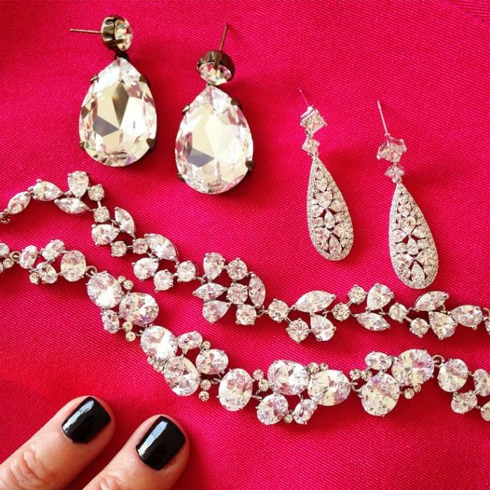 Selecting some of the jewellery before the event... Image: BWA's Instagram