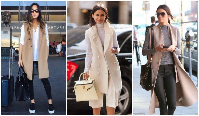 SleevelessLongine coat outfit inspiration
