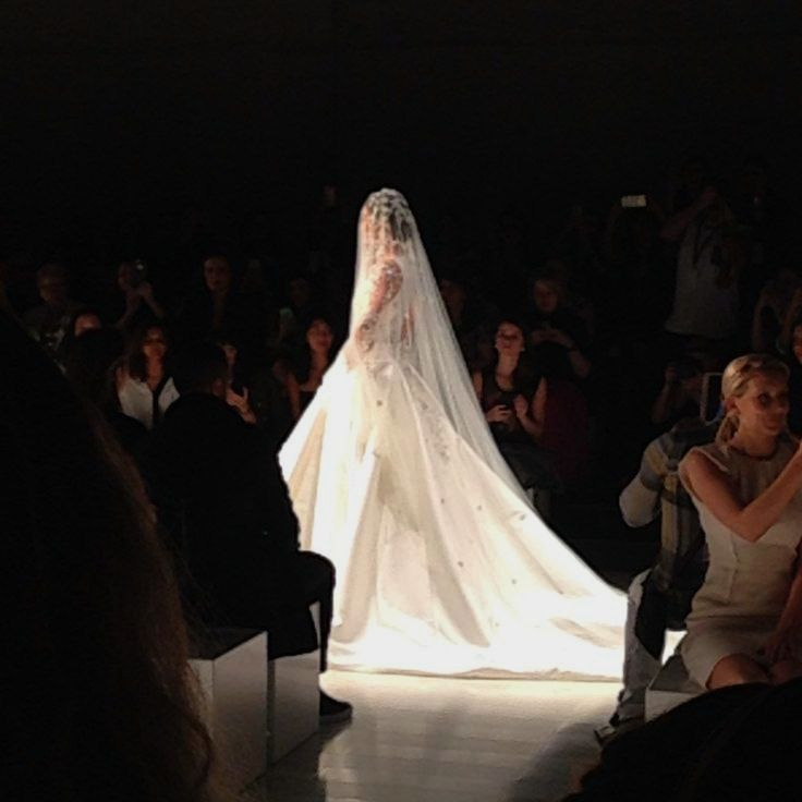 As the bride came down the runway... Image: BWA