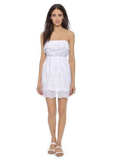 Susana Monaco White Eyelet Summer Dress