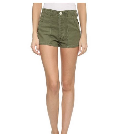 The Great High Waisted Army Shorts