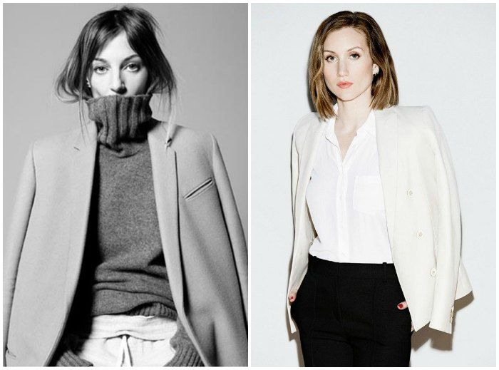 Phoebe Philo of Celine and Katherine Power, founder of Who What Wear. Images: http://www.fashionsphinx.com/ and vogue.com