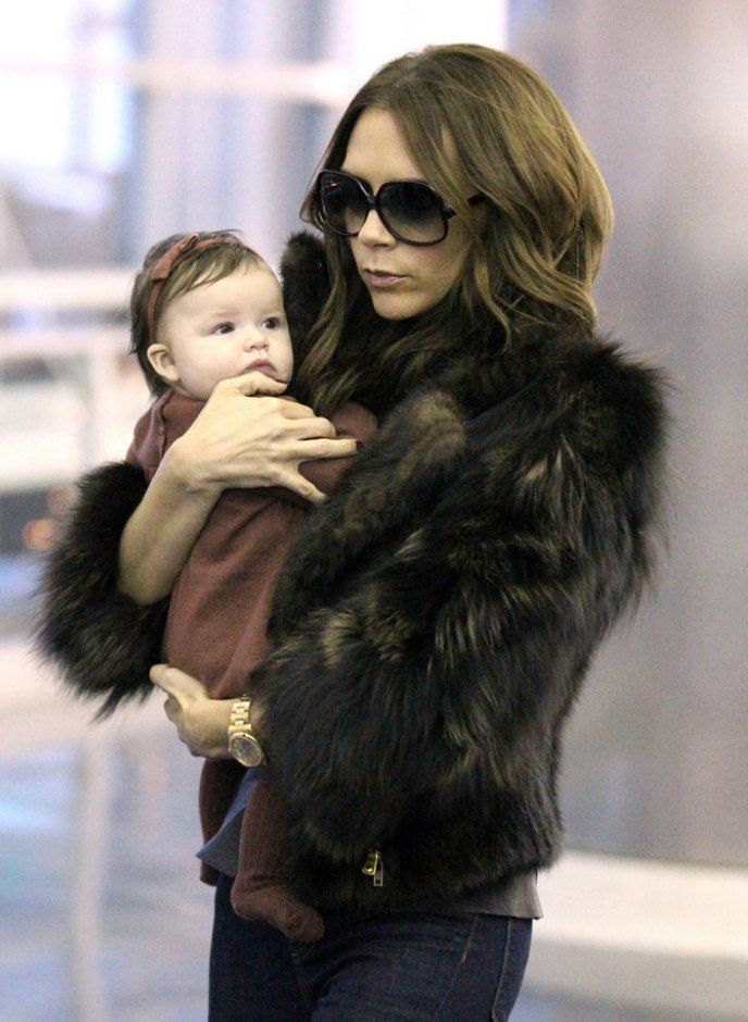 Victoria Beckham Arrives at airport with harper seven Woman Crush- Breakfast with Audrey