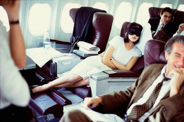 skin care routine in flight