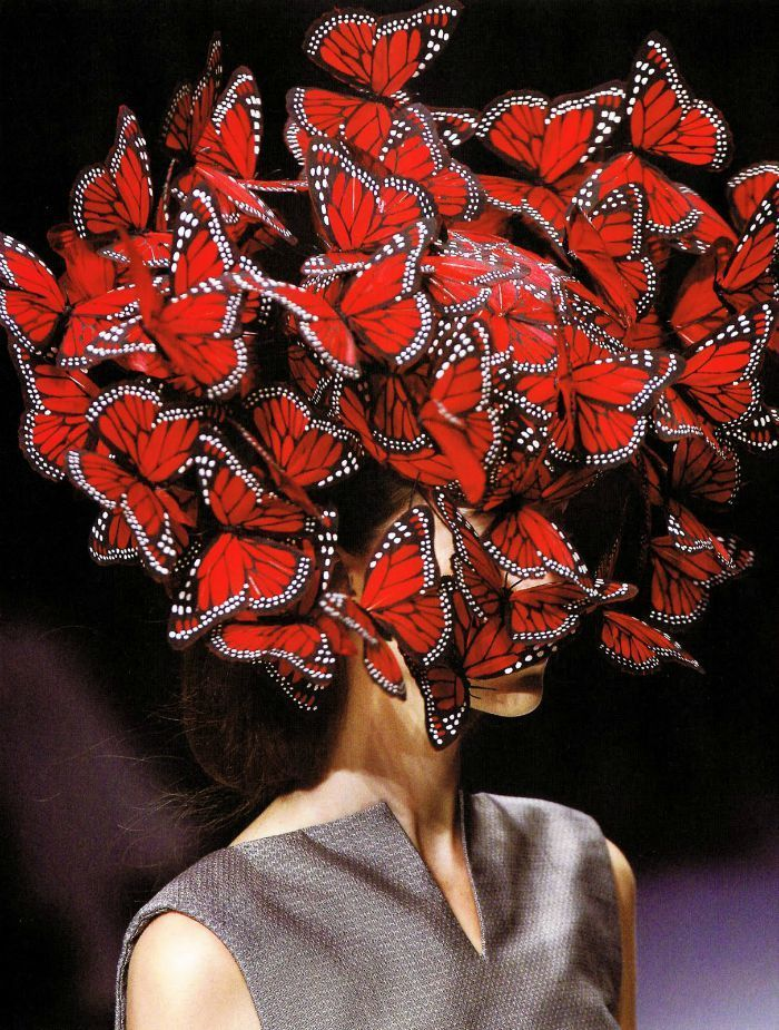 alexander mcqueen butterfly headpiece