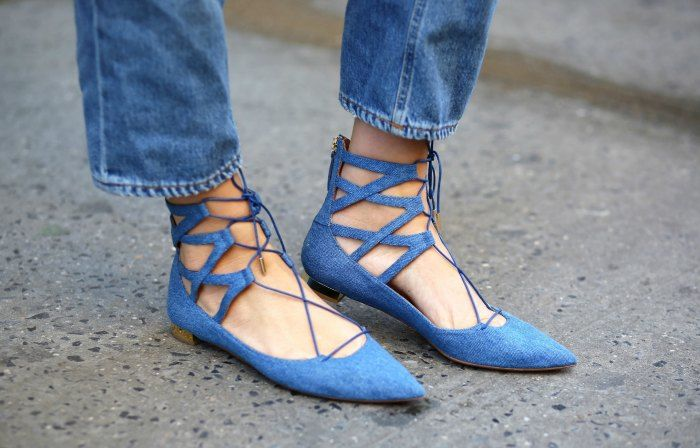 The Inspiration: Aquazzura Belgravia Flats, as seen on Danielle Bernstein from 'we wore what' Image: http://weworewhat.com/