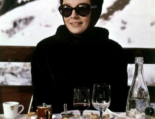 audrey hepburn in the snow