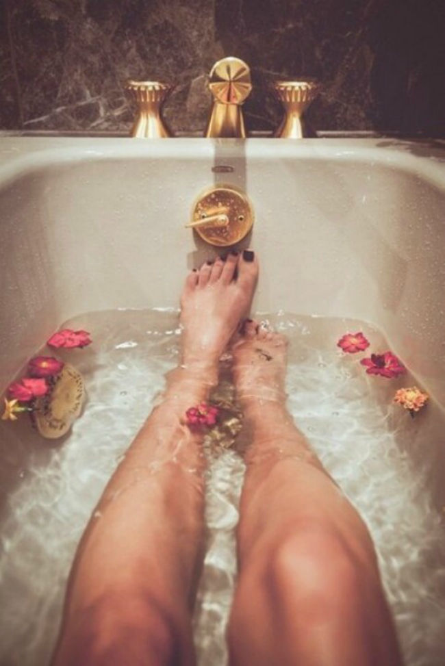 Ahh, bath time.. Put your feet up and recharge!
