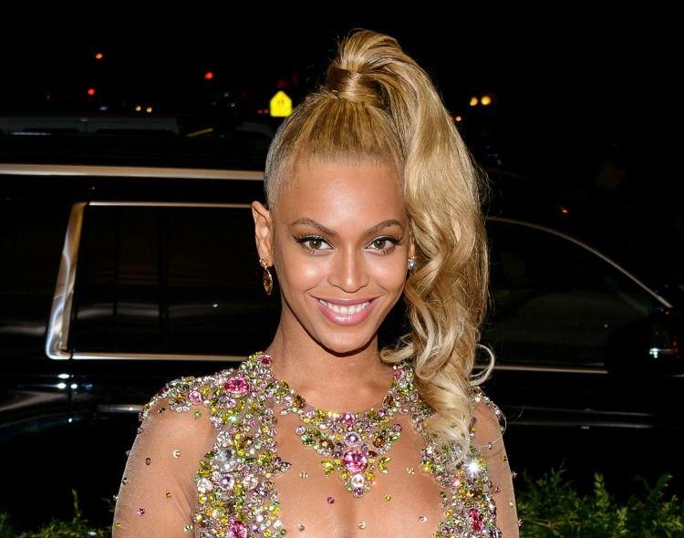 beyonce high ponytail met gala