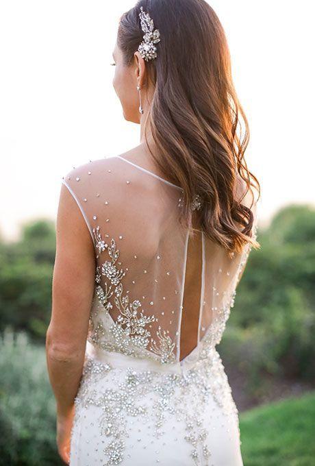 bridal hair ideas 2016 - beautiful side comb