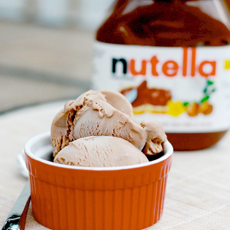 easy nutella ice cream recipe