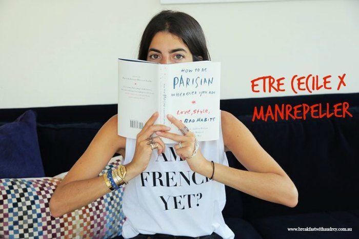 Leandra Medine of Man Repeller fame sporting a t-shirt of her own design. Via manrepeller.com