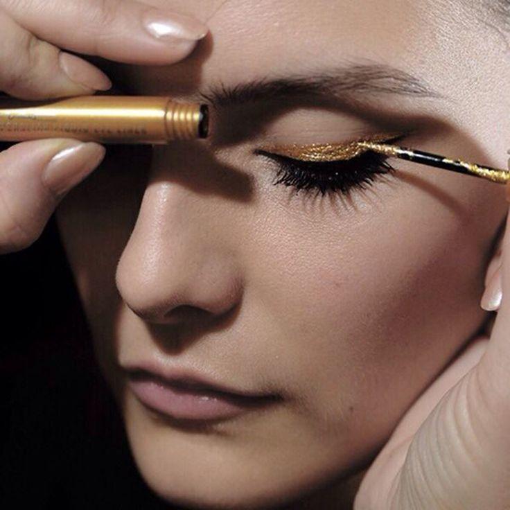 eyeliner-trends-2017-gold