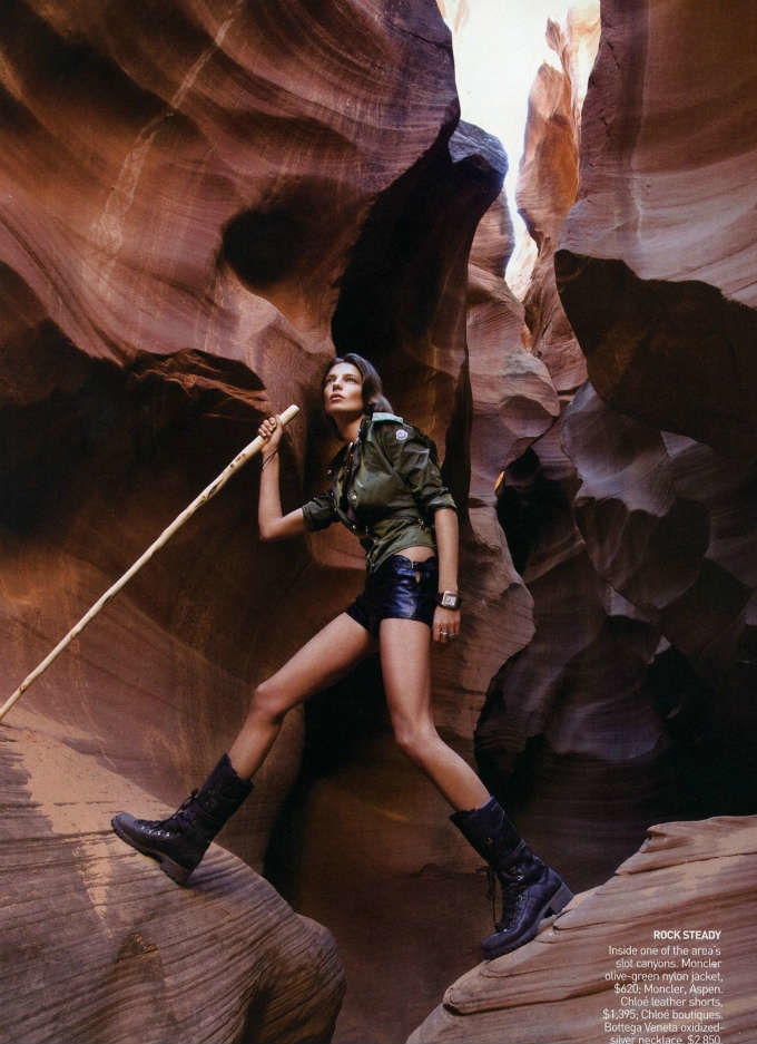 Beauty in the desert! Daria Werbowy by Patrick Demarchelier for Bazaar