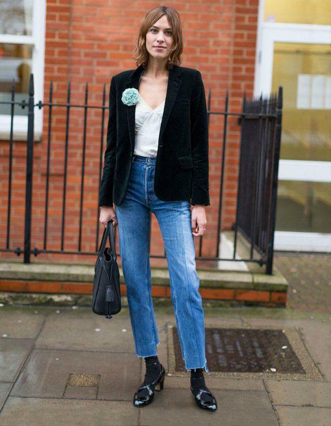 fashion tips velvet blazer alexa chung street style inspiration