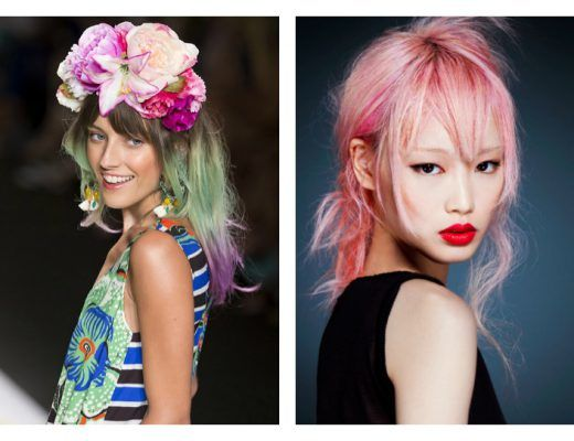 hair inspiration vibrant coloured hair