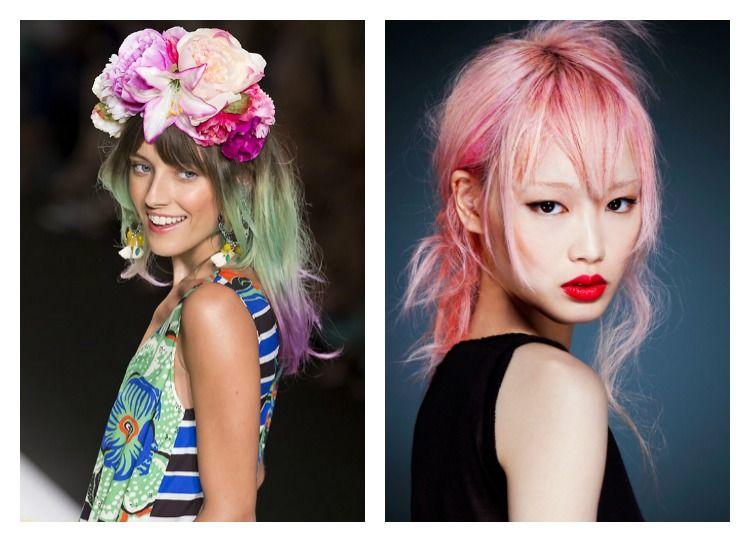 hair inspiration vibrant coloured hair