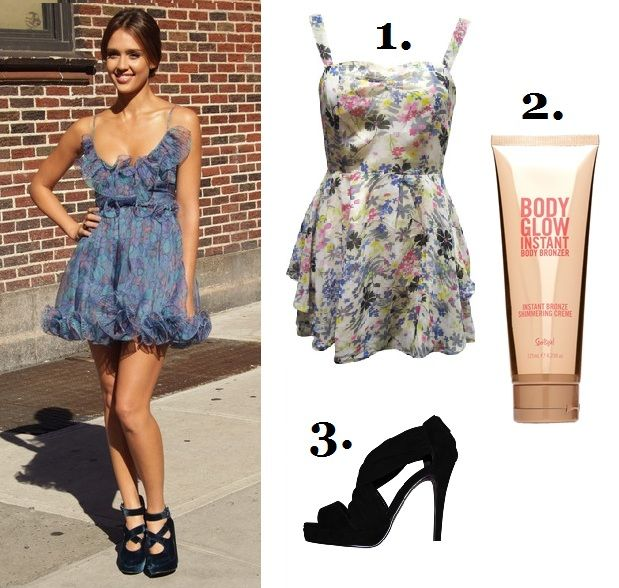 jessica alba day dress style guide