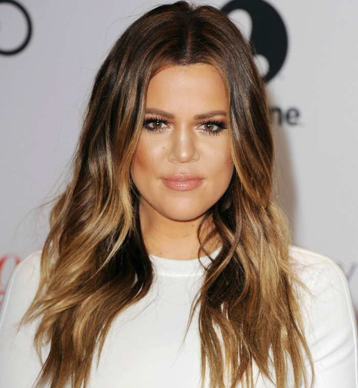 Khloe Kardashian with her ever-so-slightly-ombre / bronde. I like this! Image: http://www.theloop.ca/