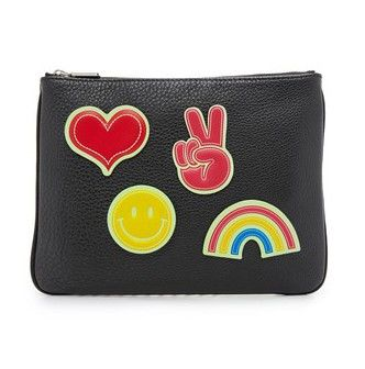 Rebecca Minkoff Clutch with Glow in the Dark Sticker Set, $115 from Shopbop