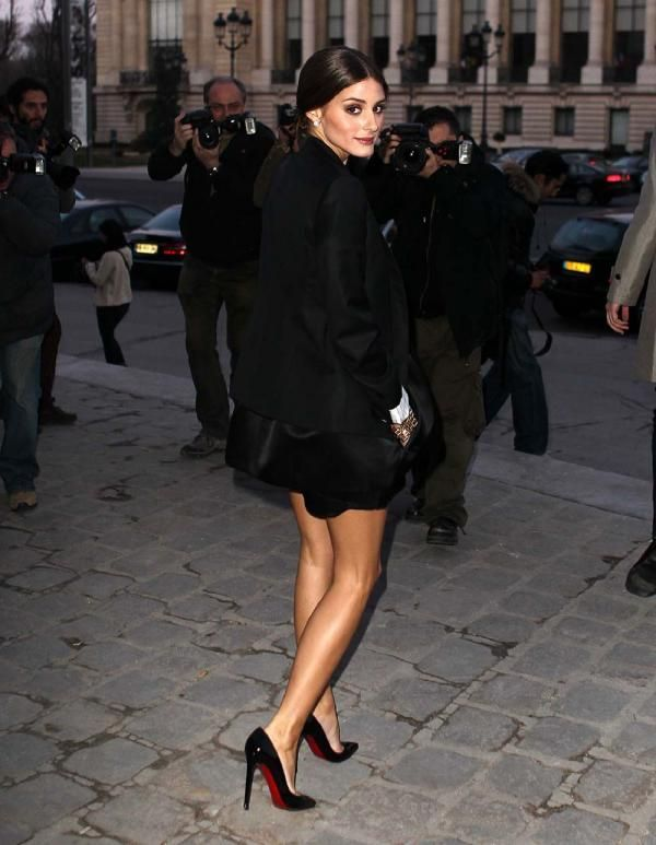 Olivia Palermo in the little black shoe