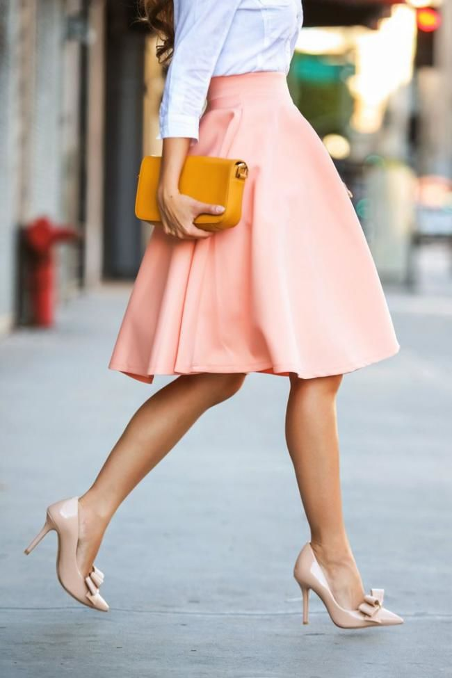 nude shoes street style