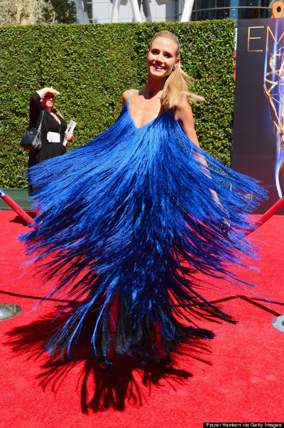 LOS ANGELES, CA - AUGUST 16:  TV personality Heidi Klum attends the 2014 Creative Arts Emmy Awards at Nokia Theatre L.A. Live on August 16, 2014 in Los Angeles, California.  (Photo by Frazer Harrison/Getty Images)