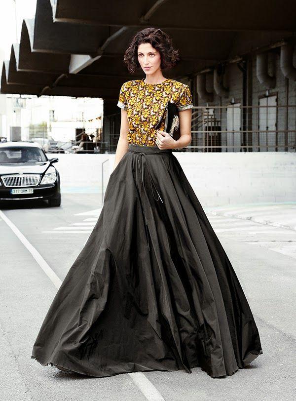 pleated+black+maxi+skirt