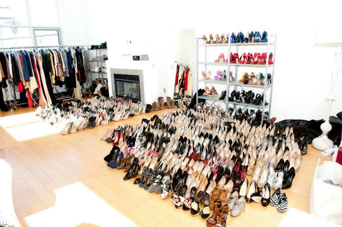 Rachel Zoe's overflowing closet - perfect eBay candidate! (via thecoveteur)