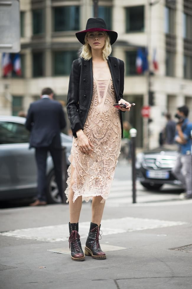 how to wear lace in winter street style inspiration
