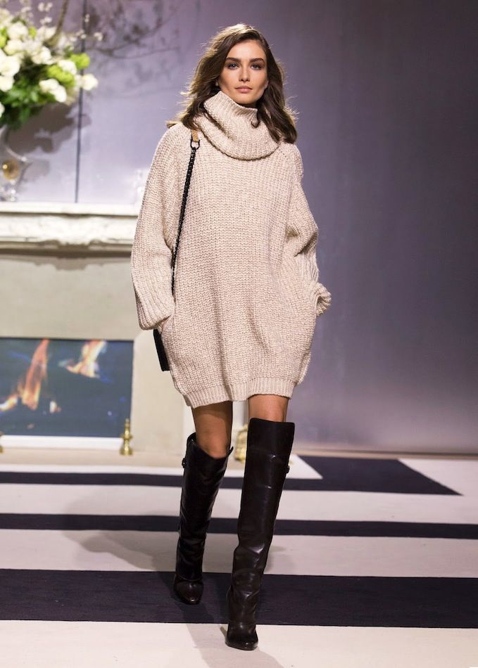 sweater dress transseasonal style staple