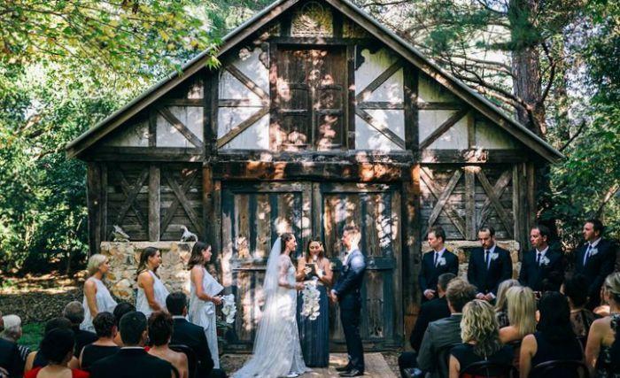 the riad byron bay wedding backdrop