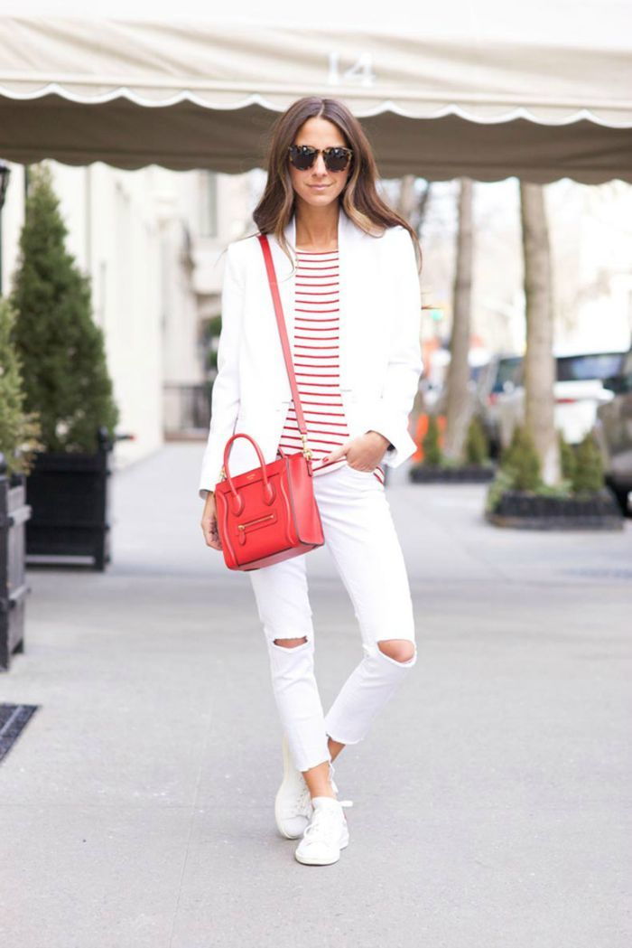 white sneakers for spring outfit inspiration