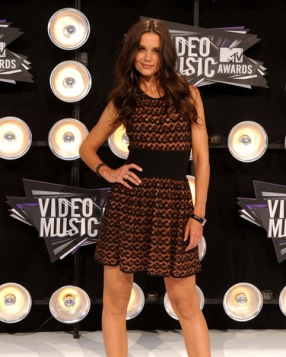 Katie Holmes In Azzedine Alaia At The MTV VMA Awards