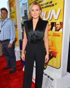 Kristen Bell in Jenny Packham at the 'Hit & Run' LA Premiere