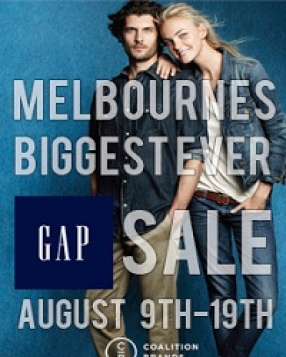GAP – BIGGEST MELBOURNE SALE!