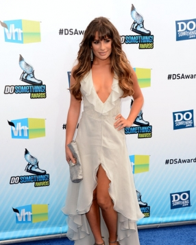 Lea Michele in Giorgio Armani at the Do Something Awards