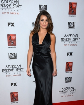 Lea Michele in Armani at the LA Screening of 'American Horror Story: Asylum'