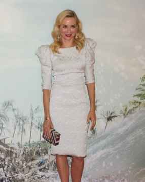 Naomi Watts in Marchesa at the Madrid Premiere of 'The Impossible'