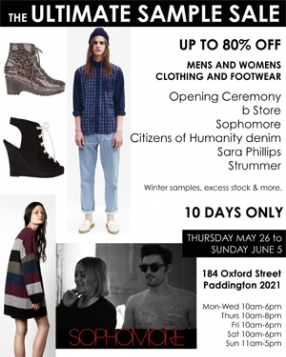 The Ultimate Sample Sale Sydney