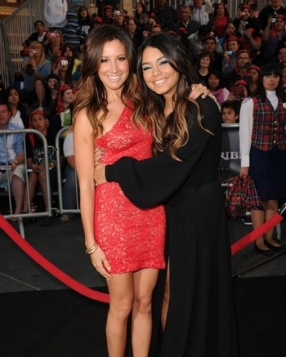 "Ashely Tisdale and Vanessa Hudgens at the ""Pirates Of The Caribbean: On Stranger Tides"" Premiere, California."