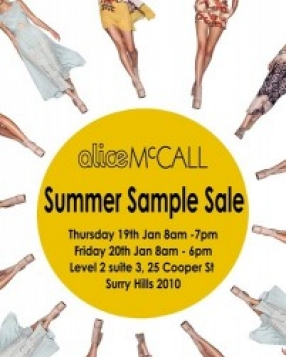 Alice McCall Sample Sale Sydney