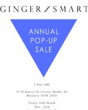 GINGER & SMART Annual Pop-Up Sale Sydney