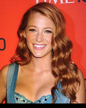 Blake Lively Goes Red