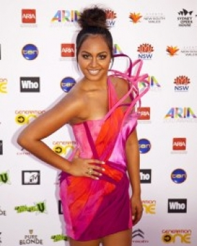 Jessica Mauboy in Toni Maticevski Dress at the Arias