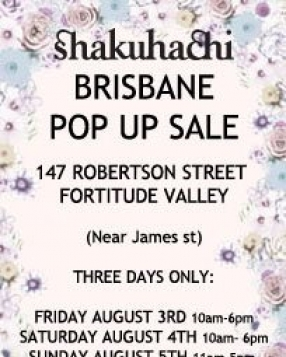 Shakuhachi Pop Up Store Brisbane